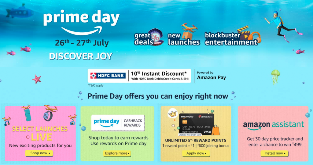 Amazon Prime Day 2021 India Offers July 26 27