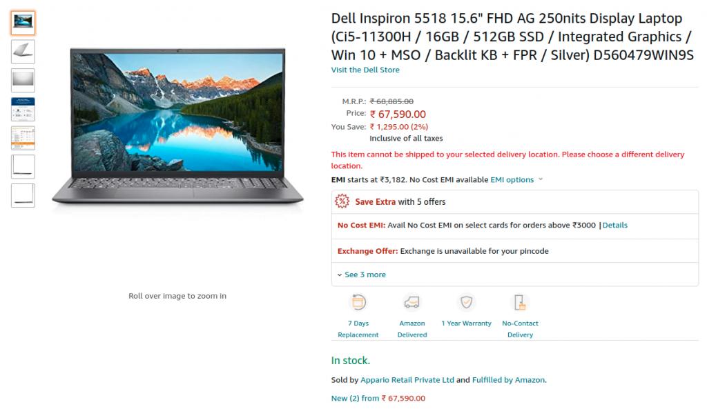 Dell D560479WIN9S Amazon India