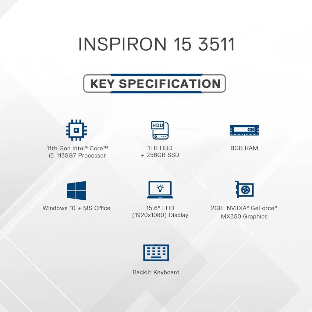 Dell Inspiron 3511 D560505WIN9S SPecs