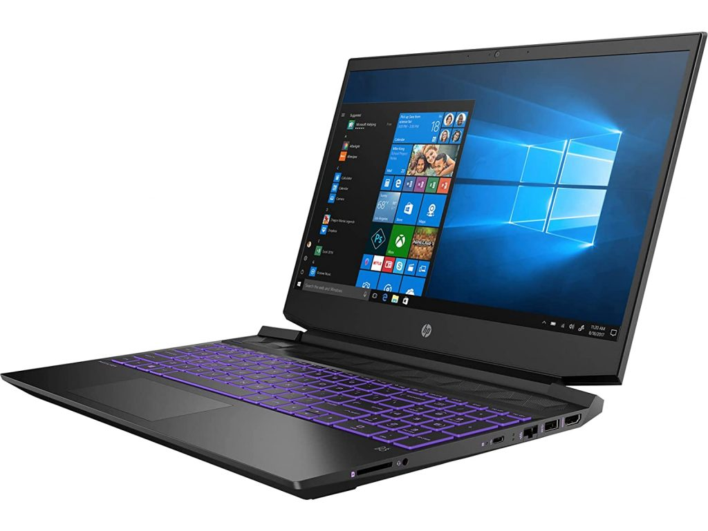 HP Pavilion Gaming 15 ec2076AX side view