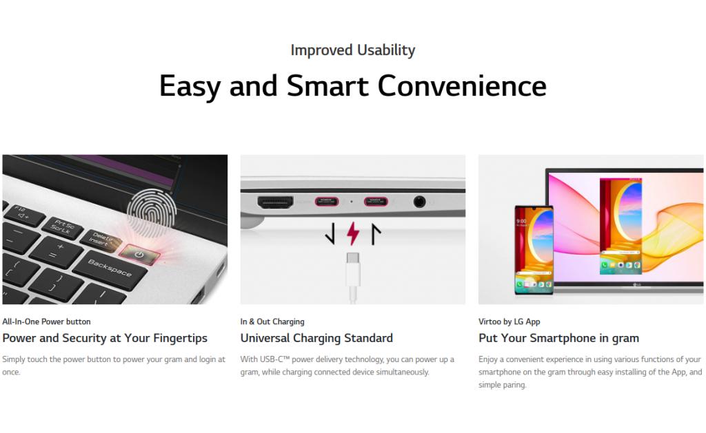 LG Gram 2021 India Models features.