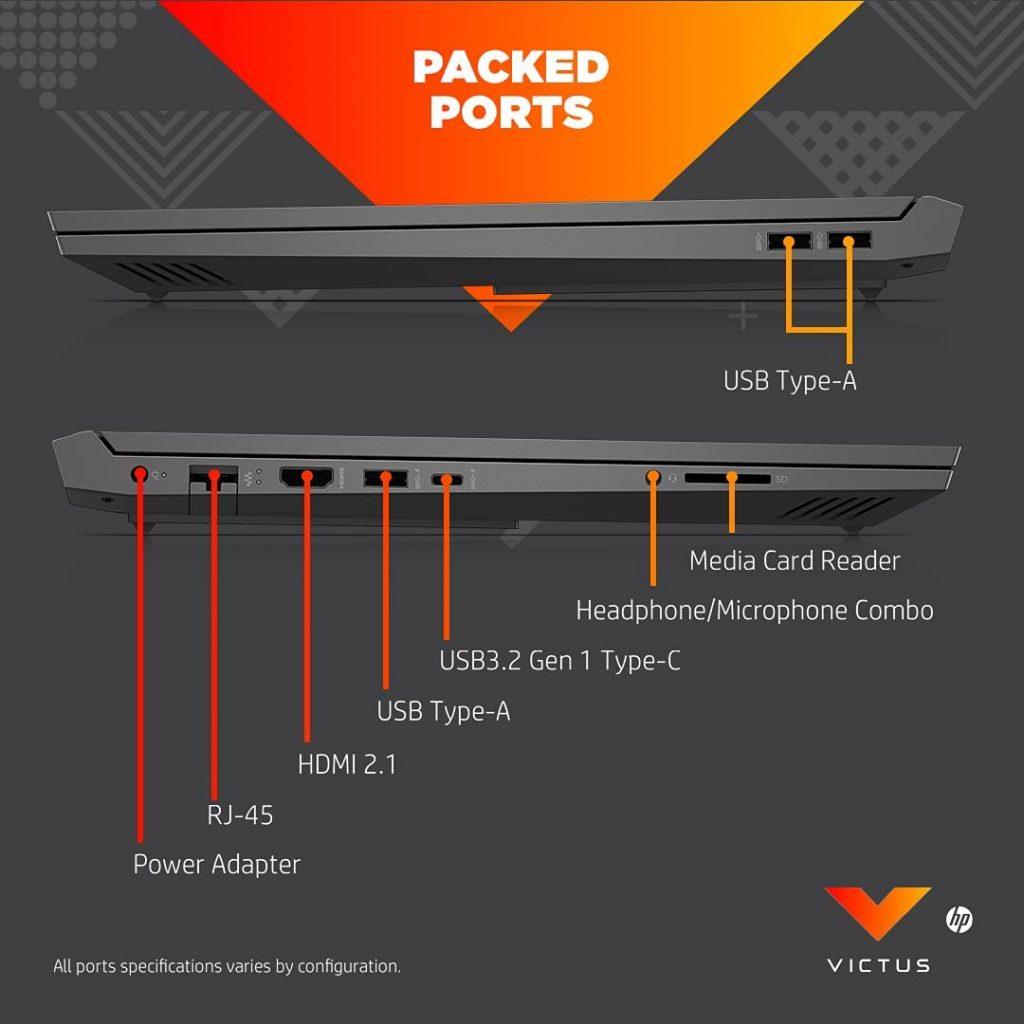 Victus by HP 16 e0076AX USB ports