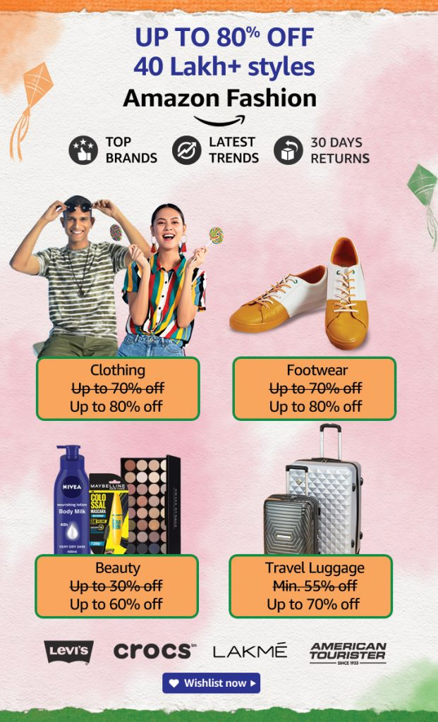 Amazon Independence Day 2021 Fashion Offers