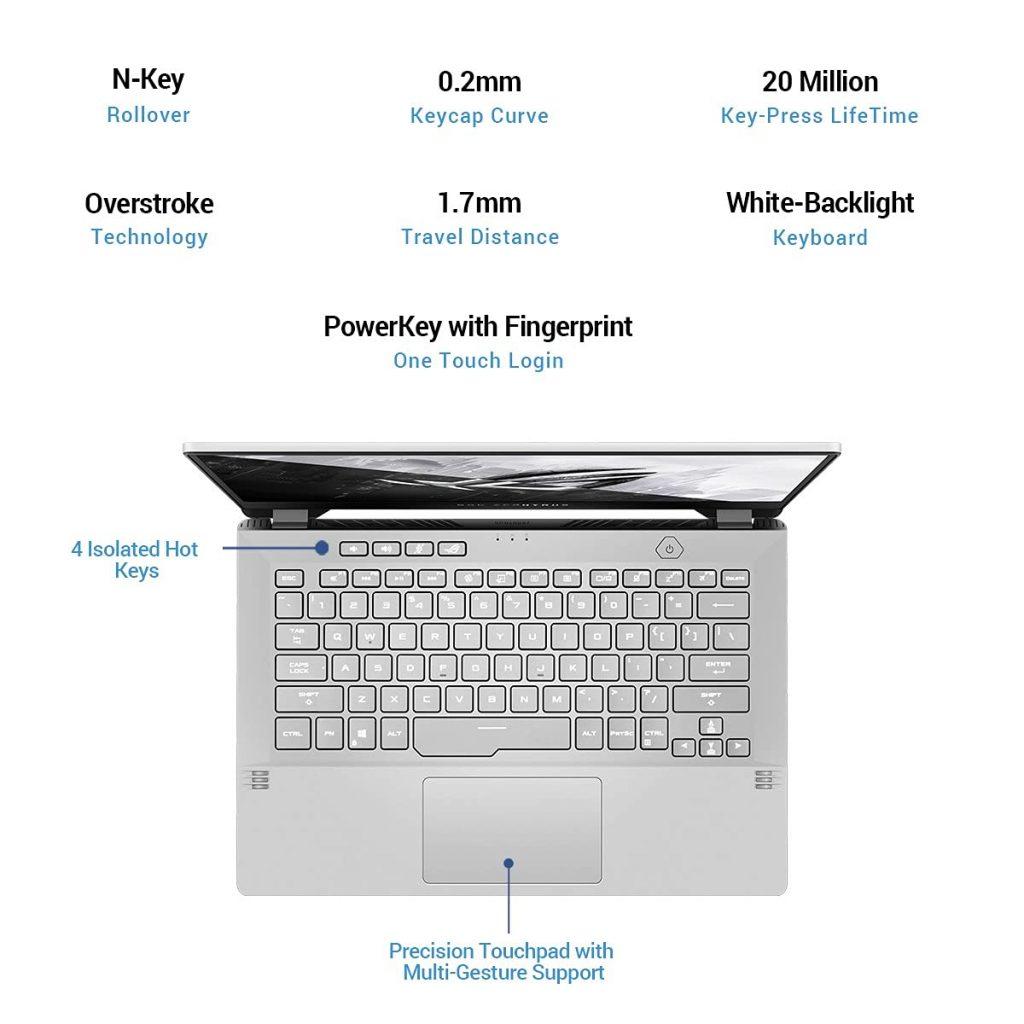 AsUS GA401QM K2330TS ROG Zephyrus G14 2021 keyboard