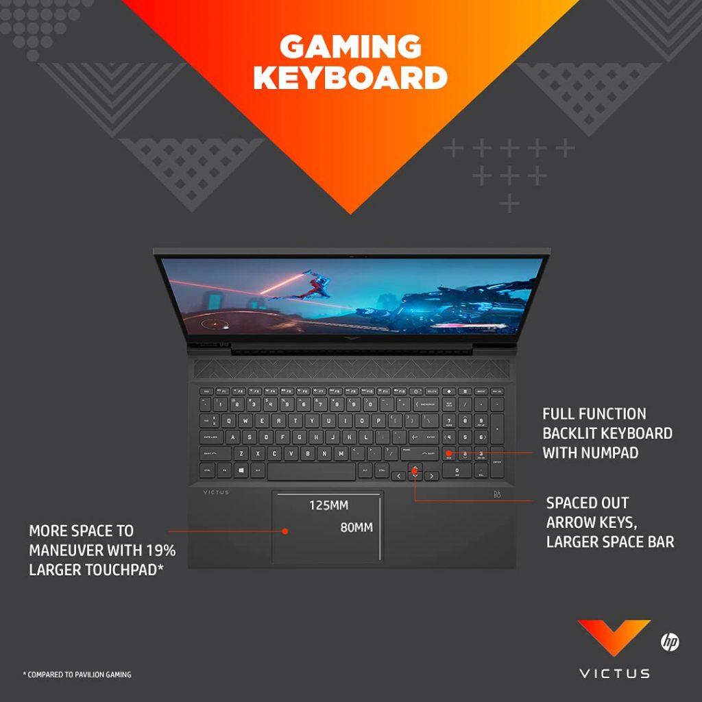 HP Victus 16 e0360AX keyboard