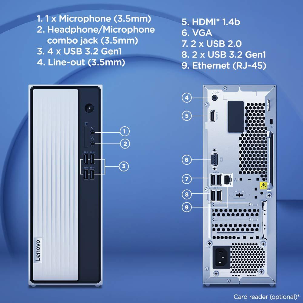 Lenovo IdeaCentre 3 90NB00FNIN ports