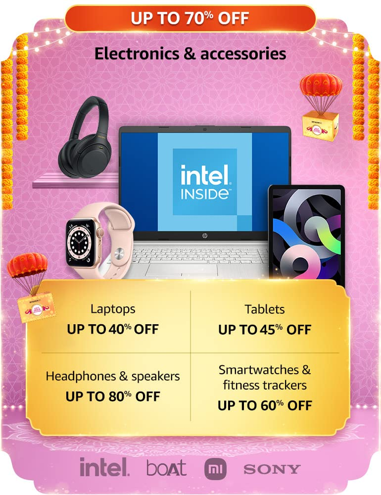 Amazon Great Indian Festival Sale Electronics Offers