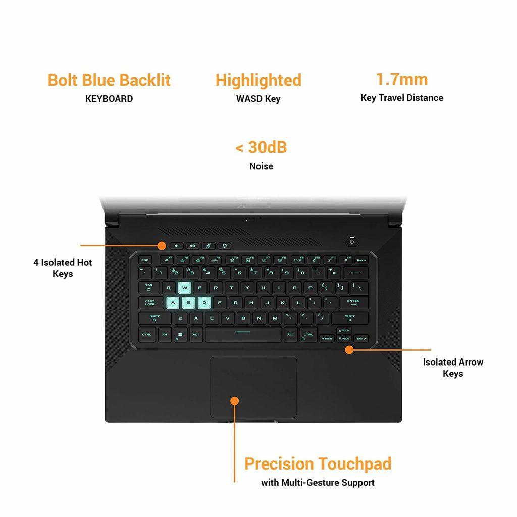 Asus FX516PE HN091TS TUF Dash F15 keyboard