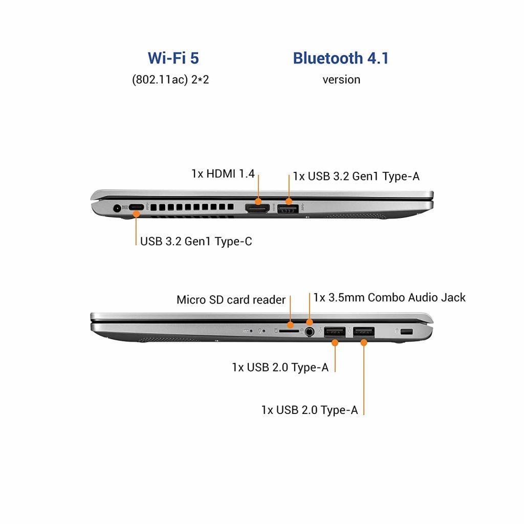 Asus X415EA EB342TS VivoBook 14 2021 ports