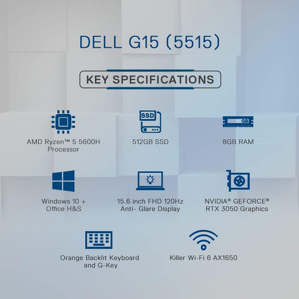 Dell G15 5515 2021 D560542WIN9W Specs