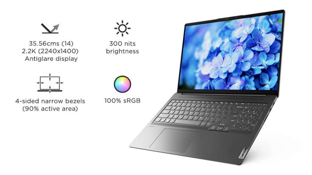 Lenovo IdeaPad Slim 5 Pro 82L3009MIN display