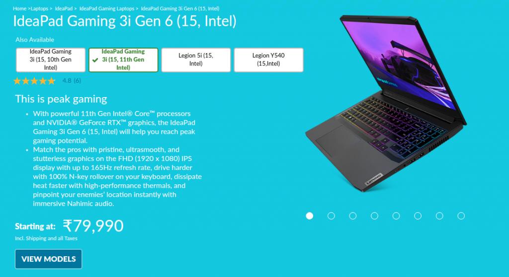Lenovo Ideapad Gaming 3 82K1004CIN
