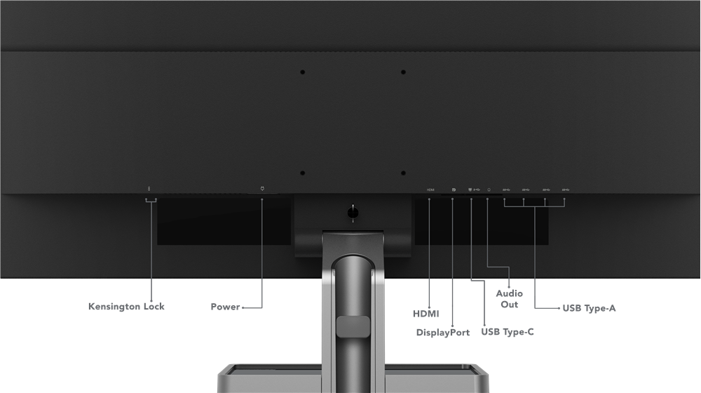Lenovo L32p 30 4K UHD Monitor ports