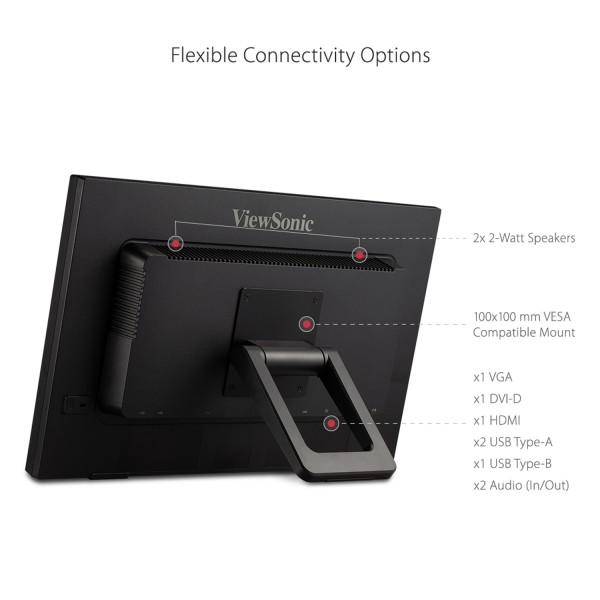 ViewSonic TD2223 IR Touch Monitor rear view