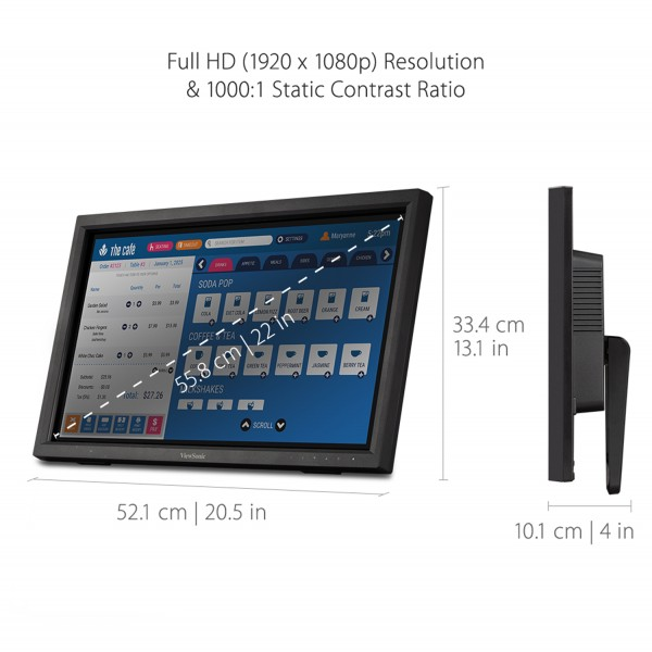 ViewSonic TD2223 IR Touch Monitor specs