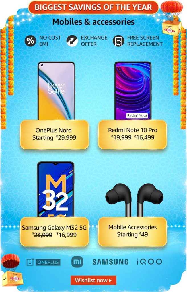Amazon Oct 2021 Sale Mobile Offers