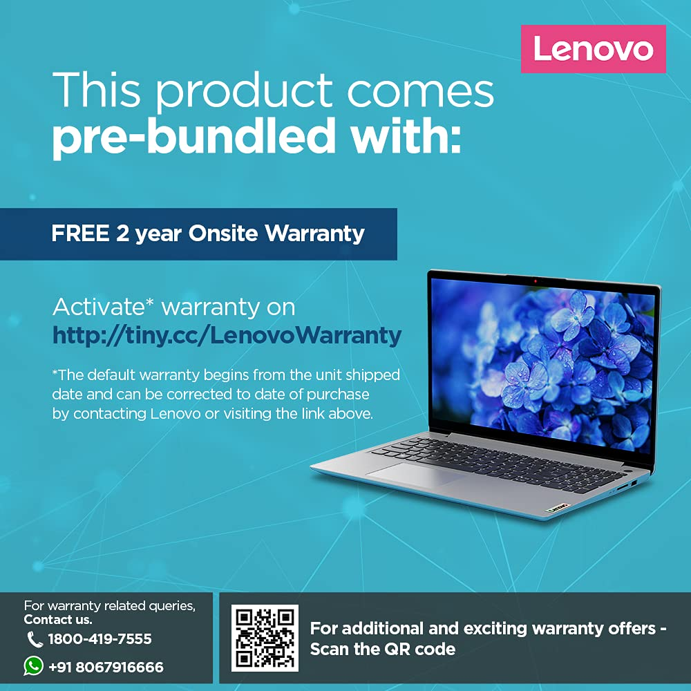 Lenovo IdeaPad Slim 3 2021 82H80238IN warranty