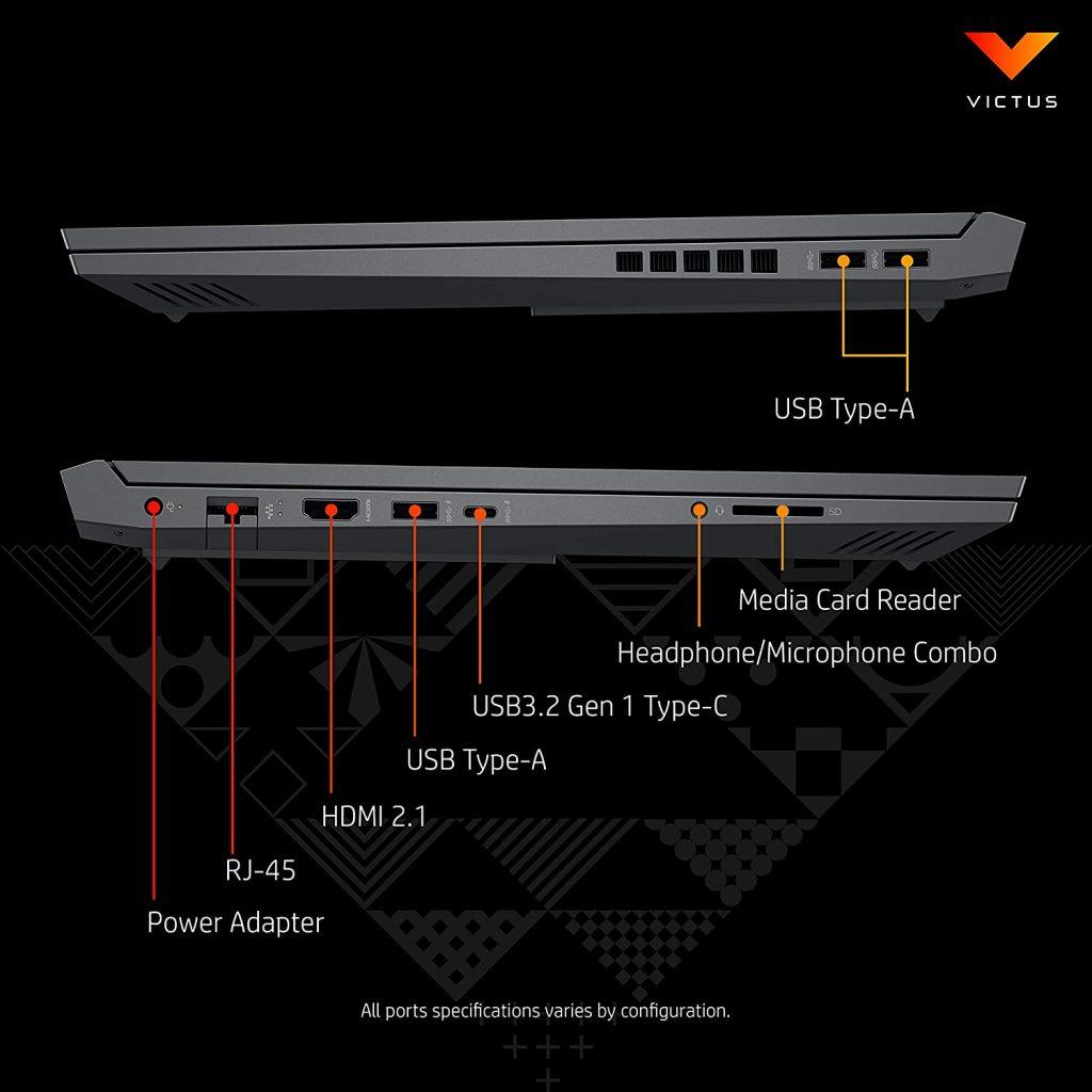 Victus by HP 16 e0162AX USB ports
